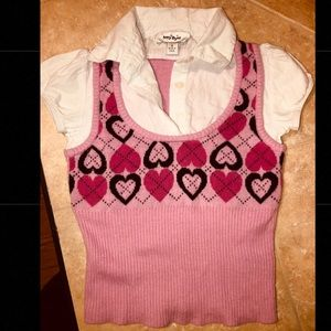 Girls' 6T sweater vest/ polo shirt.